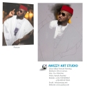 2face idibia painting in making