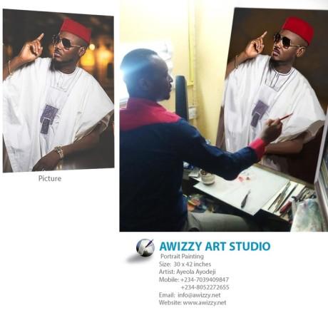 tuface painting artist ayodeji